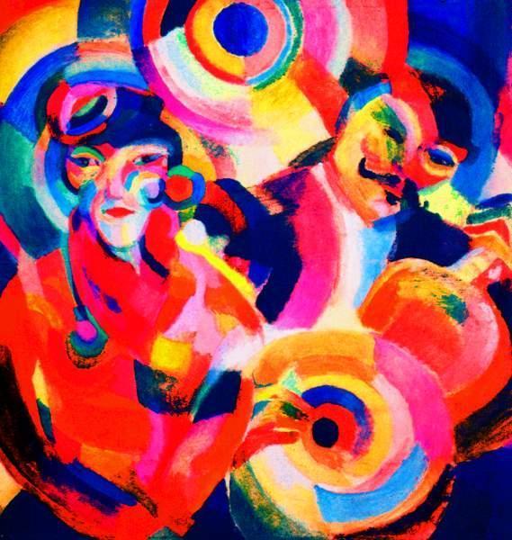 Sonia Delaunay,  Flamenko Şarkıcısı, 1916. Sonia Delaunay  ressam, tekstil ve moda tasarımcısı olan bir sanatçı. Kendisinden  Art Deco bölümünde uzun uzun bahsedeceğiz.