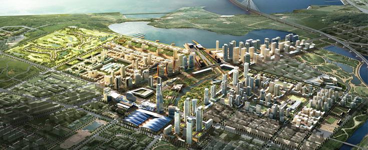 Güney Kore'de Songdo eko şehrinde şimdiden otuz bin kişi yaşıyor. 2017 yılında nüfusunun altmış beş bin olması planlanıyor. Şehir tamamlandığında  %40'ı yeşil alan olacak. Doğal malzeme ile inşa edilen şehirde yenilenebilir enerji kullanılacak. Şehrin yapım ve yerleşimi bittiğinde toplam maliyetinin otuz milyar doları bulması bekleniyor. Fotoğraf: www.cityup.org