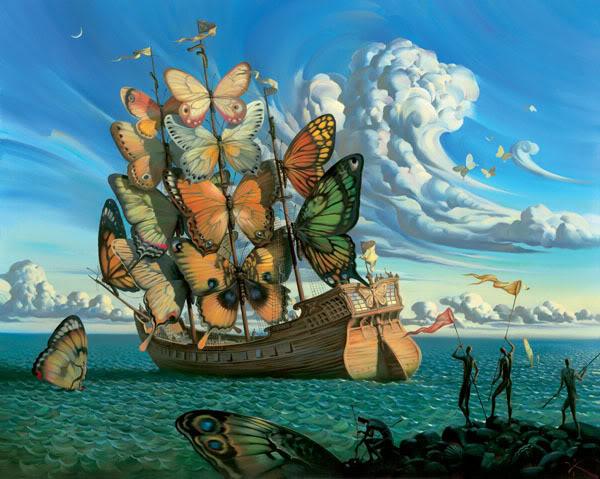 Yeni akıma Salvador Dali'nin Kelebek Serisi'nden iki tablo ile neşeli başlamak istedik.