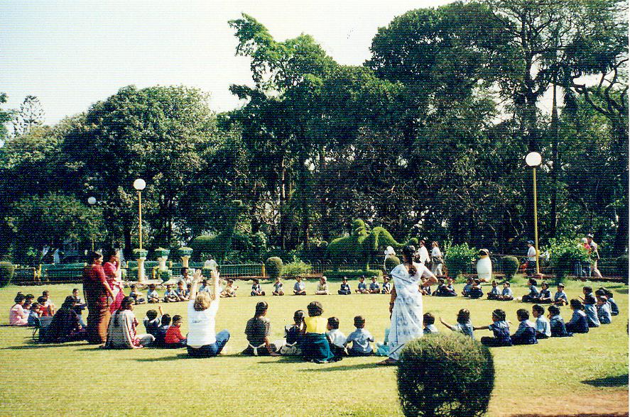 Malabar Tepesi'ndeki asma bahçeler.