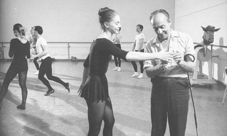 George Balanchine ve Suzanne Farrell Don Kişot için provada.. New York State Theatre, 1965. theguardian.com