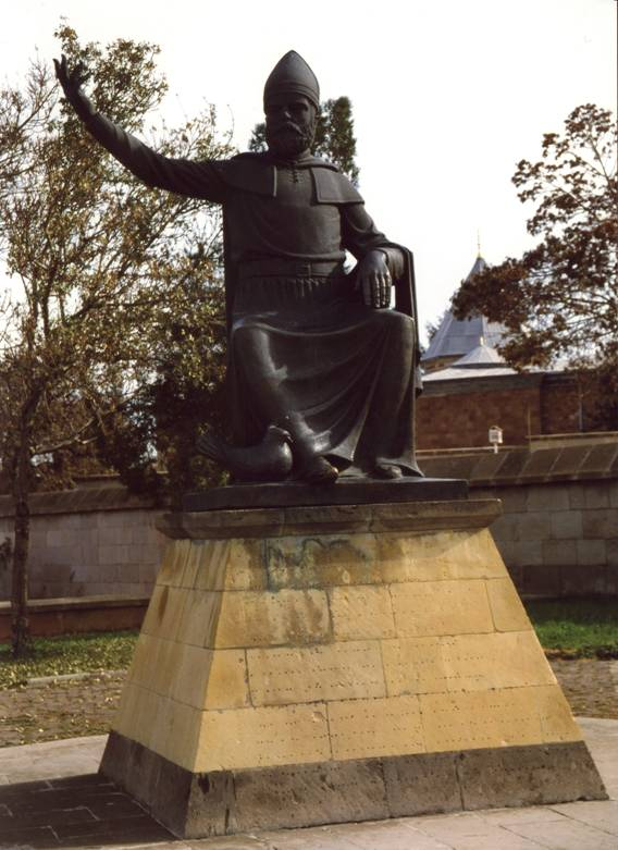Turkey – Nevşehir, Town of Hadji Bektash, the Statue of Hadji Bektash.
