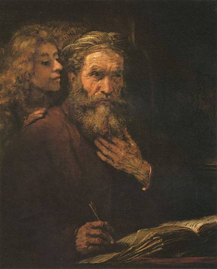 Rembrandt (1606-1669), the Evangelist Matthew Inspired by an Angel, 1661.