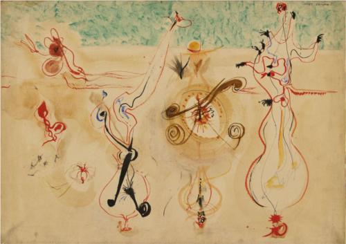 Mark Rothko, İsimsiz, 1944. Dönemi Modern, stili Sürrealist, janrı soyut, tekniği tuval üzerine yağlı boya. Fotoğraf: www.wikiart.org.
