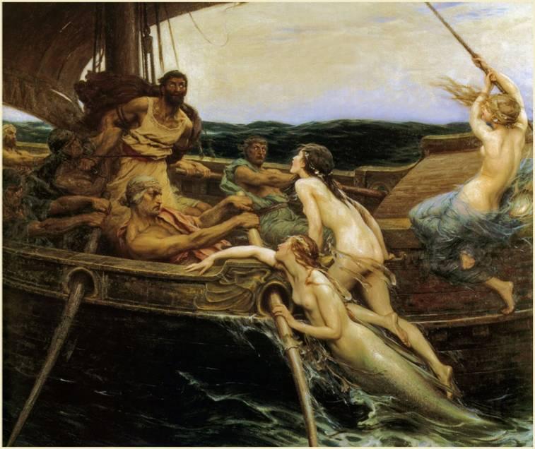 Ulysses ve Sirenler, Herbert James Draper, 1909.