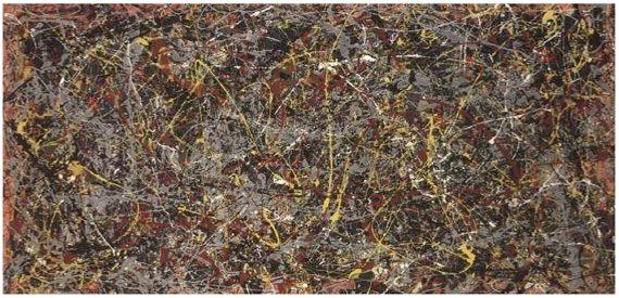 Pollock, damlatma ve sıçratma tekniğini 1947 yılında geliştirmeye başladı. En bilinen eserlerini, Autumn Rhythm (1950) ve Lavender Mist (1950) gibi, bu teknikle yaptı. En meşhur çalışmalarından olan, yukarıda fotoğrafı görülen, No. 5'i (1948) 140 milyon dolara sattı. Bu meblağ, o güne dek bir resim için ödenmiş en yüksek tutar olmuştur. Fotoğraf: learnodo-newtonic.com