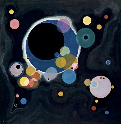 Soyuta doğru değişim sürecinde karşımıza ilk çıkan sanatçılardan biri Kandinski'dir (1866-1944). Yaptığı resimler soyut sanatın en önemli örneklerindendir. Slamxhype.com