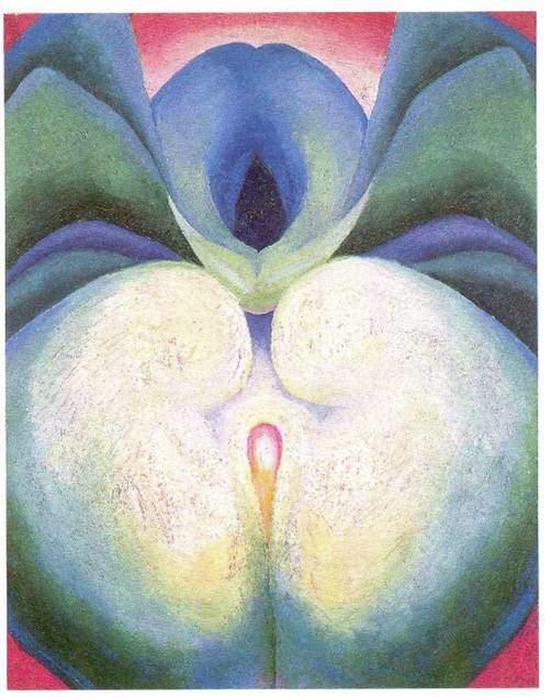 Georgia O'Keeffe, White and Blue Flower Shapes, 1919. Fotoğraf:www.pinterest.com