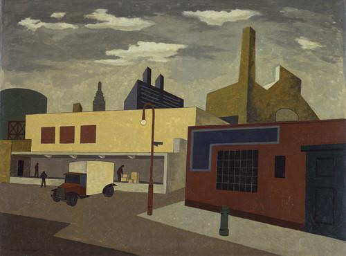 Bir başka Presizyonist eser daha koymak istedik. Niles Spencer, Near Avenue A, 1933, MOMA.
