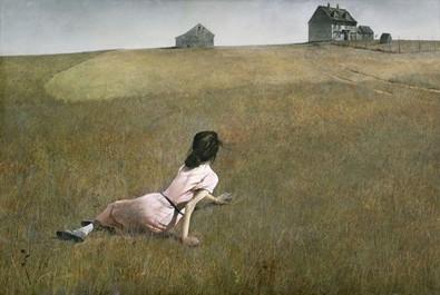 Andrew Wyeth, Christina's World, 1948. Museum of Modern Art, New York City. 31 yaşında iken yaptığı bu tablo, 20. yüzyıl Amerikan sanatında en bilinen eserlerden biridir. Tabloya adını veren Christina Olson, sanatçının komşusudur. Uzaktan kendi evine bakmaktadır. Yürüyemediği için zamanının çoğunu evinde geçirmektedir. Sanatçı 1937-60 arasında, aynı konuyu, yaklaşık 300 çizim, sulu boya, tempera ile işlemiştir. Wyeth'in popülaritesinden dolayı söz konusu arazi 2011 yılında Ulusal Tarihi Alan olarak ilan edilmiş, koruma altına alınmıştır. Maine'deki bu ev, tabloya hürmeten, Farnsworth Sanat Müzesi tarafından korunmuş ve halkın ziyaretine açılmıştır. Andrew Wyeth, Christina Olson, Olson ailesinin diğer üyeleri buraya yakın olan mezarlıkta yatıyorlar. Çünkü sanatçı Christina'ya ve bu tabloyu yaptığı yere yakın bir yere gömülmeyi vasiyet etmiş.