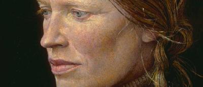 Andrew Wyeth, Braids, detay, 1979. Sanatçı 1971-85 yılları arasında, resmini gördüğümüz Helga'nın, kendi eşinden ve Helga'nın eşinden habersiz, 200'ün üstünde portresini yapmıştır. Fotoğraf:en.wikipedia.org