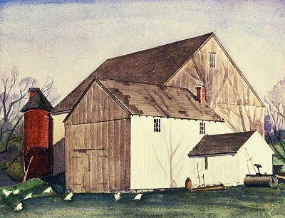 Charles Sheeler, Bucks County Barn, 1926. Fotoğraf:www.watercolorpainting.com