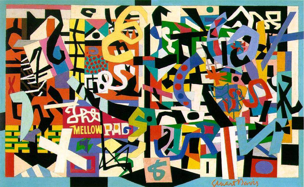Stuart Davis, The Mellow Pad, 1951. Stili Hard Edge Painting, Pop Art; Janrı Soyut. Fotoğraf:www.wikiart.org
