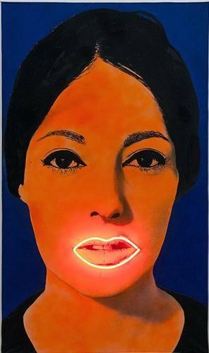 1936 yılında doğmuş olan Fransız sanatçı Martial Raysse, 1960'ların seri üretim malları ve plastik nesneleriyle ilgilenmiş; bunların renk zenginliğinden ve sayıca bolluğundan etkilenmiş; reklam dünyasının aldatıcı parlaklığını yansıtmış; eserlerinde neon lambalarından ve floresan boyalardan yararlanmış, kendine özgü boyalarını başka sanatçıların eserleri üzerine de sürmüştür. Raysse'ın, 1965 tarihli bu yapıtı stil olarak hem Yeni Gerçekçilik hem de Pop Art olarak tanımlanabilir. Fotoğraf:www.wikiart.org