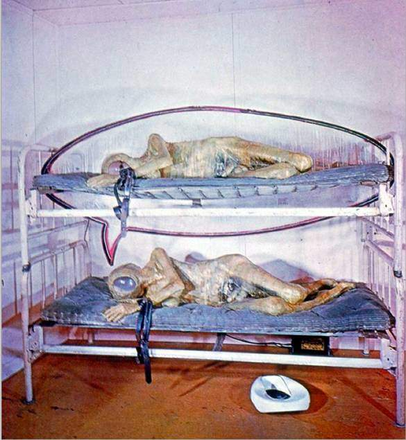 Edward Kienholz (1927-1994), The State Hospital, 1964-66. Pek çok buluntu eşya ile yapılmış bu eserde, hastane yatağı, fiberglas, neon  ışıklandırma ile akıl hastanelerinde hastalara uygulanan tedavi usullerinin zalimliği vurgulanıyor. Fotoğraf:www.studyblue.com