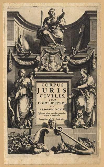 Eserin bütününü bir araya toplayarak ilk kez bastıran, 1583 yılında Fransız humanisti Dionysius Gothofredus olmuştur. Cenevre'de yapılmış olan bu ilk baskı, uzun zaman model olarak kalmıştır. Fotoğraf:lasecretariadelmarques.wordpress.com