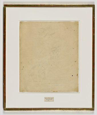 Robert Rauschenberg, Erased de Kooning Drawing, 1953. Fotoğraf:www.sfmoma.org