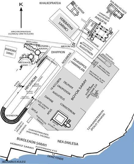Konstantinopolis'in canlandırması. Kaynak:wikipedia.org