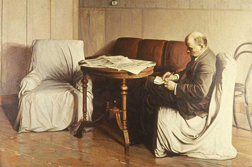 Lenin Smolny'de, Isaac Brodsky, 1930. Bazı uzmanlar bu tablonun kanonik bir öneme sahip olmadığını iddia edebilir. Ama bazı kitaplardaki reprodüksiyonları ve ilişkili olduğu tarihsel koşullar ve olaylar nedeniyle, sanatın rolüne belirli bir bakışı ve anlayışı temsil ettiği için kanonik olduğu düşünülebilir. Fotoğraf:www.learn.columbia.edu