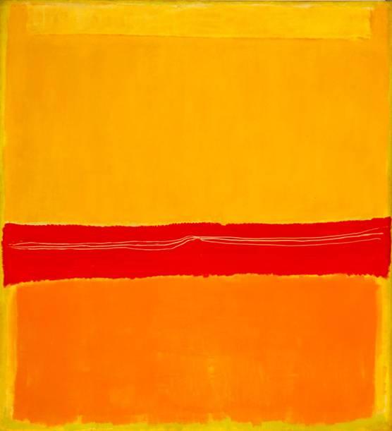 Mark Rothko'nun Soyut Dışavurumcu stilindeki İsimsiz/Untitled No. 5/No. 22 (1951-1952) adlı tablosunda form ve konu birbirinden ayırt edilemez. Soyuttur, gördüğümüz haliyle dünyayla hiçbir benzerlik taşımaz; dışavurumcudur, sanatçının duygularından ve hislerinden bir şeyler aktarır. Rothko'nun bu tablosu genel olarak kanonik kabul edilir, çünkü Modernizm'e ait bir eser olarak olumlu eleştiriler almıştır. Eser, Modernist kanona dahil edilir. Eseri kategorize edersek bu tablonun dönemi için Modern; stili için Soyut Ekspresyonist; janrı için soyut resim, teknik için tuval üzerine yağlı boya dememiz gerekir. Fotoğraf:blog.kavrakoglu.com