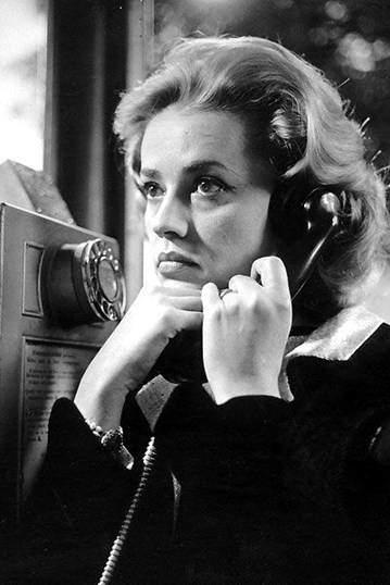 Jeanne Moreau, İdam Sehpası adlı filmin bir sahnesinde. Fotoğraf:tr.wikipedia.org