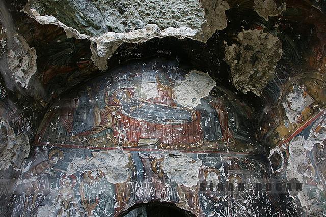 Vazelon Manastırı fresklerinden Kimisis tablosu. Fotoğraf:www.flicker.com