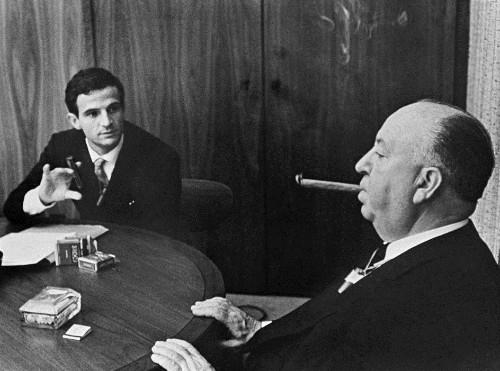 François Truffaut, Alfred Hitchcock ile. Fotoğraflar:thehitchcockreport.wordpress.com ve www.goodreads.com