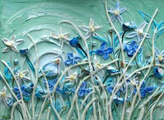 Çağdaş ABD'li sanatçı Justin Gaffrey, tablolarını üç boyutlu hale getirerek resim ve heykel sanatı arasındaki ayrımı azaltmayı amaçlayan eserler vermektedir. Akrilik boya kullanmayı tercih etmektedir. Fotoğraf:irekgoogle.blogspot.com