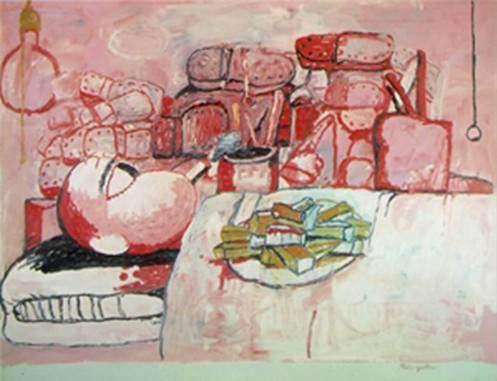 Boston Figüratif Ekspresyonizmi sanatçılarından Philip Guston'un (1913-1980) bir eseri. Fotoğraf:vefotograf.com