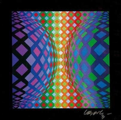 İsimsiz, Victor Vasarely. Fotoğraf:www.galeries-bartoux.com