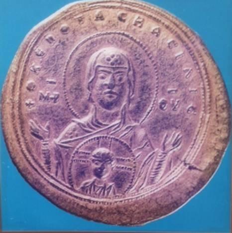 Blakherniotissa Meryemi betimli altın sikke, Zoe-Theodora, 1042.