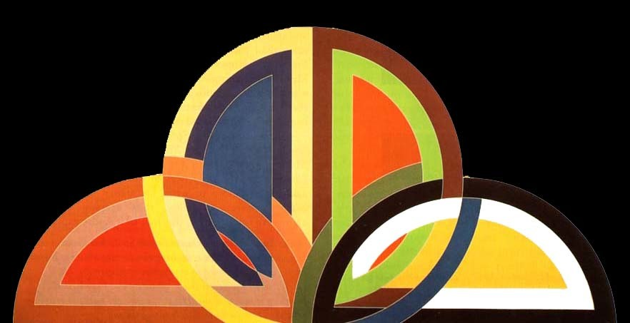 Frank Stella, Hatra I., 1967. Geç Resimsel Soyutlama akımında sözünü ettiğimiz Frank Stella'nın bir Sert Kenar Resmi örneği. Fotoğraf:www.joniweyl.com