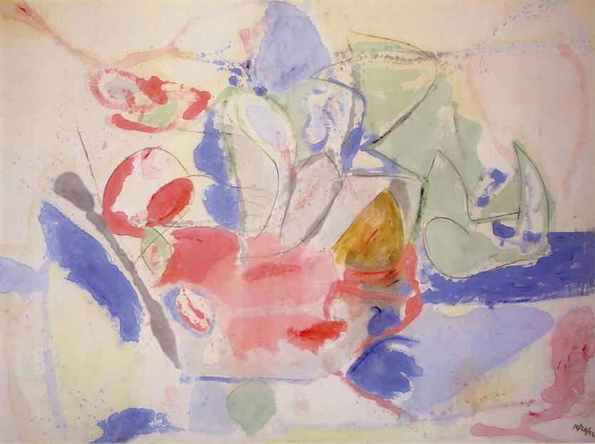Helen Frankenthaler (1928-2011), Mountains and Sea, 1952. Fotoğraf:www.joniweyl.com