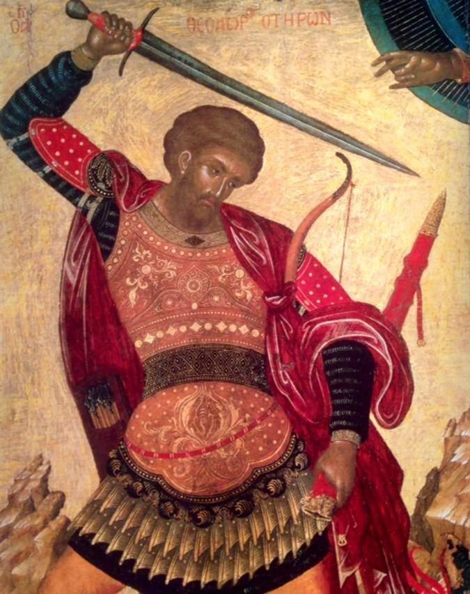 Asker azizlerden biri olan Aya Yorgi. Fotoğraf: Byzantium, Robin Cormack ve Maria Vasilaki, Royal Academy of Arts, 2008.