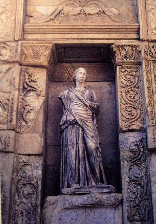 Sophia, Bilgelik heykeli. Fotoğraf:Efes Rehberi, 2000.
