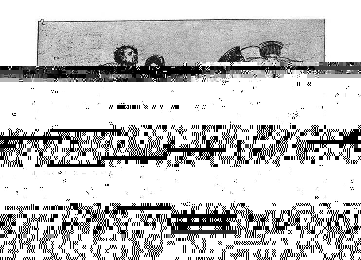 """Susan Sontag'a göre, fotoğrafın henüz icad edilmediği dönemde, savaşın dehşetengiz korkunçluğuna yoğunlaşan en iyi eserler, 1810-1820 yılları arasında İspanyol ressam Francisco Goya tarafından yapılan, 1808-1815 yılları arasında İspanya'da gerçekleşen İspanyol Bağımsızlık Savaşı'ndaki olayların anlatıldığı, sanatçının Savaşın Felaketleri adını verdiği 82 gravürden oluşan dizisidir. Dizi, 1808 yılında İspanya'yı işgal eden Napoléon'un askerlerinin işledikleri gaddarlıkları betimleyen bir şaheserdir. Goya, dizinin evrenselliğini sağlamak ve geleneksel kahramanca ölüm temasını dışarda bırakmaya özen göstermiştir. Dizide savaş kadar mutlakiyet de eleştirilmiştir. Susan Sontag, Goya'yla birlikte sanata, acıya duyarlılık açısından yeni bir standart geldiğini düşünüyor. Yukarıdaki gravür, Savaşın Felaketleri dizisinin ikinci tablosudur. Tablonun adı """"Haklı mı, Haksız mı?""""dır. Fotoğraf:tr.vikipedia.org.Arno Schmidt Reference Library."""