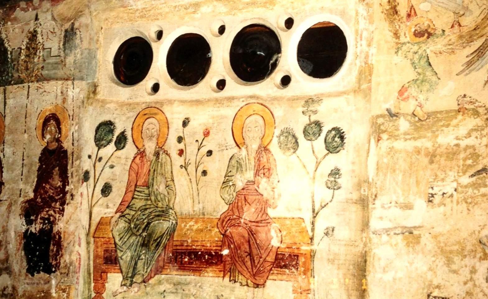Diriliş Manastırı'nın içinden bir fresk. Teselya Vadisi, Yunanistan. Fotoğraf: Füsun Kavrakoğlu