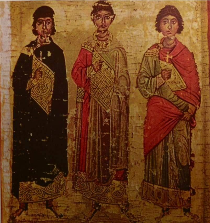 11. yüzyıla tarihlenen üç aziz ikonu, Sina Dağı.