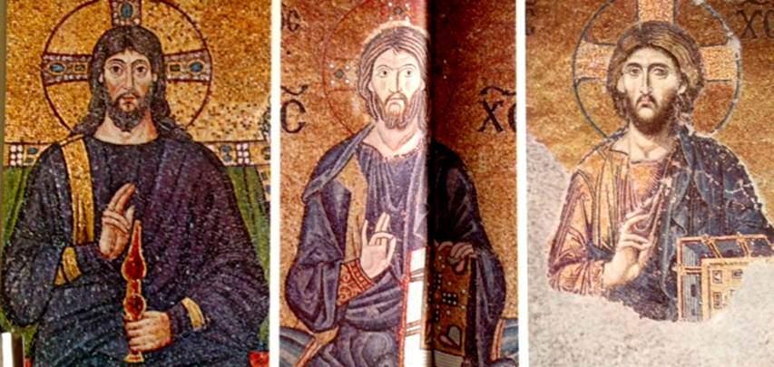 Farklı dönemleri temsil eden üç örnek, bin yıllık ömrü içinde Bizans sanatının geçirdiği aşamaları gösteriyor: Antik Yunan ve Roma'nın klasik izlerinden, Doğu'nun çileciliğinin izlerine, ve sonunda varılan etkileyici natüralizmi örneklerde görebiliyoruz. Fotoğraf: Byzantium, Time-Life.