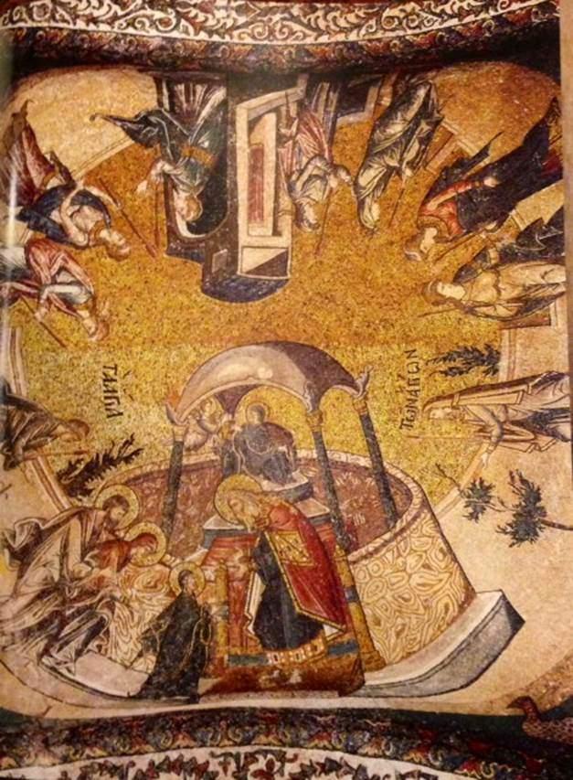 Meryem'in Tapınağa Takdimi, iç narteks.