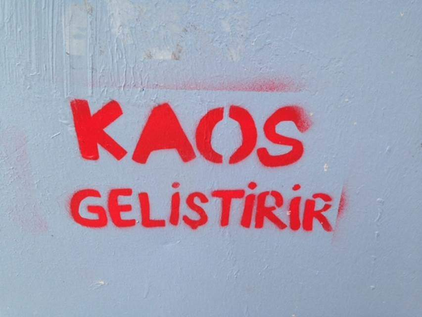 Bağdat Caddesi'nde Deleuze ve Guattari'ye destek. Fotoğraf: Füsun Kavrakoğlu