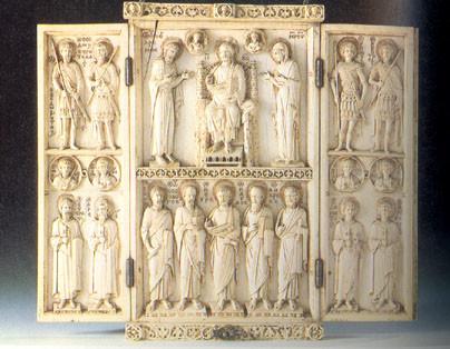 Harbaville Triptiği, geç 10. yüzyıl, fildişi, Louvre Müzesi, Paris. Fotoğraf:home.psu.ac.th