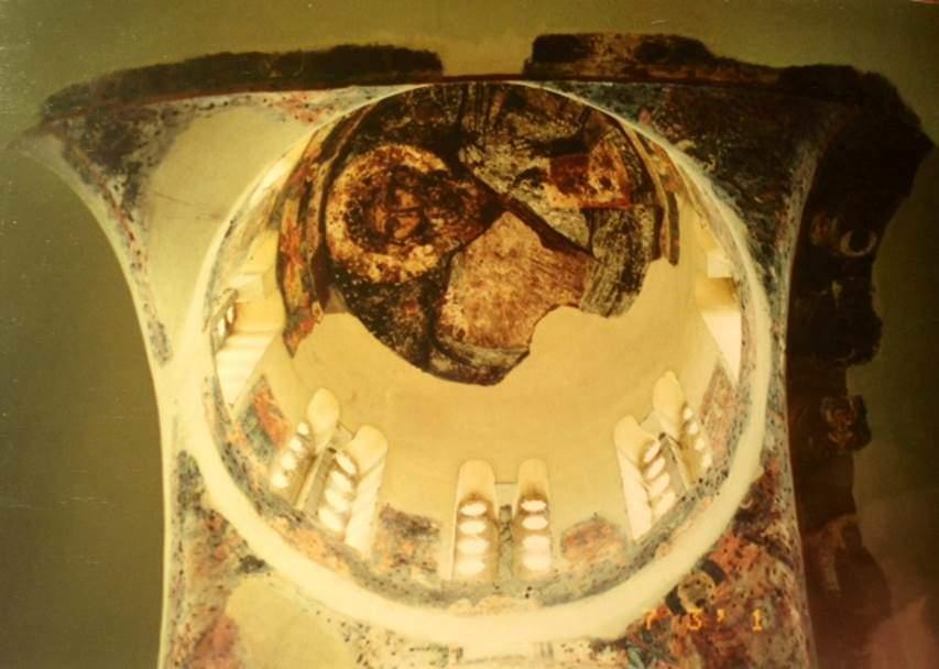 Atina'daki, 11. yüzyıl yapısı  Havariler Kilisesi'ndeki Bizans freskleri. Fotoğraf: Füsun Kavrakoğlu