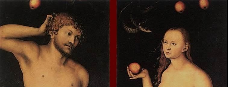 Adem ve Havva, detay, Lucas Cranach the Elder, (1528). Fotoğraf:www.artbible.info