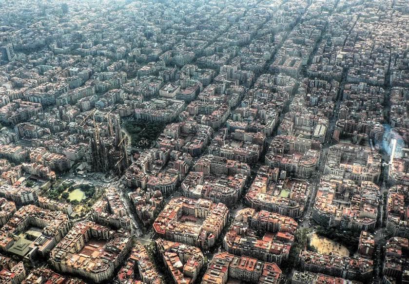 Barcelona şehir planı. Fotoğraf:esaddere.wordpress.com