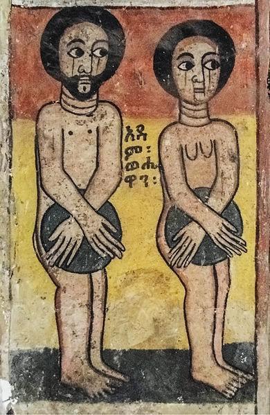 Etiyopya'daki Atsbeha Kilisesi'nde Adem ile Havva. Fotoğraf:Commons.wikimedia.org