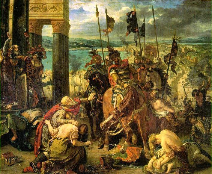Konstantinopolis'in Haçlılar Tarafından Talanı, Eugene Delacroix (1798-1863), 1840. Louvre Müzesi, Paris. Fotoğraf:www.friendsofart.net