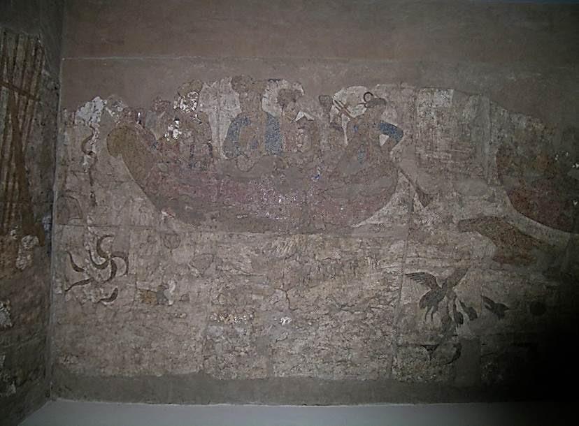 Semerkand'da Afrasiyab Tepesi'nde saray duvarından arta kalan resimlerden üçünü paylaşıyorum. 7. yüzyılda Sogd döneminden kalan duvar ve resimler Afrasiyab Tarih Müzesi'nde korumaya alınmış. Fotoğraf: Füsun Kavrakoğlu