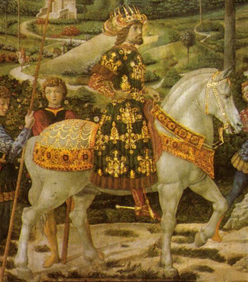 Erken Rönesans ressamı Benozzo Gozzoli (1420-1497) tarafından yapılmış VIII. İoannis Paleologos tablosu. Fotoğraf:tr.vikipedia.org