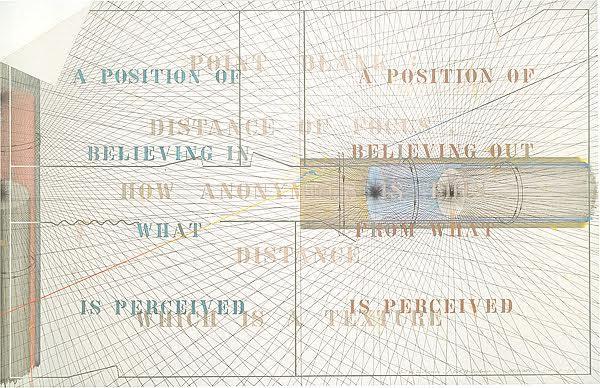 Japon sanatçı ve mimar Shusaku Arakawa (1936-2010), ülkesinde Neo Dada Hareketinin ve savaş sonrası Japon avangard sanatının öncülerinden olmuş, New York'a cebinde Marcel Duchamp'ın telefon numarası ile gelmiştir. Lyotard, Arakawa'nın eserlerinin bizi gözlerimizle düşünmeye sevk ettiğini söylemiştir. Arakawa'nın Out of distance / Out of texture /Distance of point blank B adlı eseri. Fotoğraf:nga.gov.au